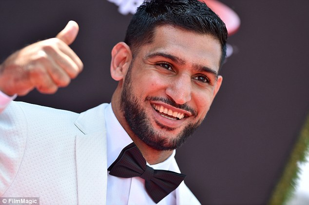 Khan, pictured at the 2018 ESPY awards last month, will fight Samuel Vargas on September 8