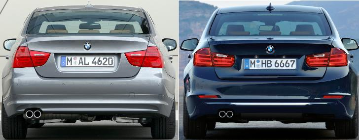 BMW E90 vs BMW F30 3 Series - overview